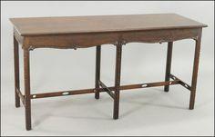 An #English #Georgian Style #Mahogany #Console Table : Lot 144-1015