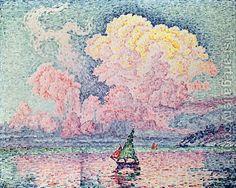pink clouds Antibes Paul Signac