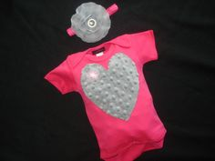 Newborn Hot Pink Onesie Set Infant Baby Girl by jacqueline225, $23.00