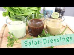 3 leckere & einfache Salat-Dressing-Rezepte in 3 Minuten! | Salatsaucen selber machen - YouTube