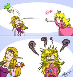 Zelda vs Peach by BorieBorie.deviantart.com on @DeviantArt