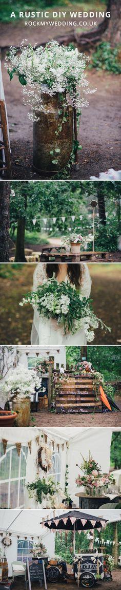A rustic DIY Wedding | How to have a DIY wedding | Camp site wedding | marquee wedding #diywedding