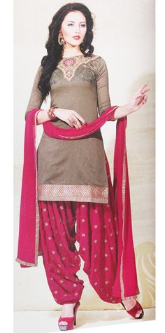 This is a 100% cotton beautifully embroidered Patyala. Look beautiful in this a-line full sleeve kurta. This is a 3-piece set with a georgette dupatta. http://cherishmaternity.com/festive_catalog.html