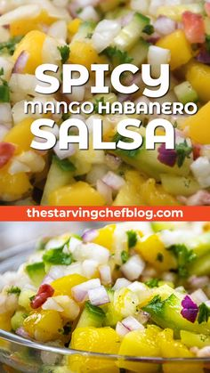 Sweet and spicy mango salsa – don't be decieved by this fruit salsa; it's DANGEROUSLY spicy! Sweet and spicy mango salsa – don't be decieved by this fruit salsa; it's DANGEROUSLY spicy! Habanero Salsa Recipe, Mango Habanero Salsa, Best Salsa Recipe, Mango Salsa Recipes, Spicy Salsa, Fruit Salsa, Fruit Fruit, Habanero Recipes, Salsa Verde