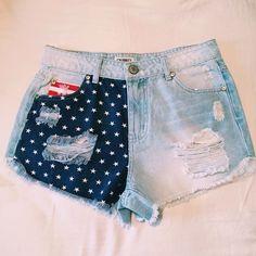 Minimalist American Flag Cutoff Shorts Minimalist American Flag Cutoff Shorts. NWT. Super Cute for the Summer. High Waisted. Shorts