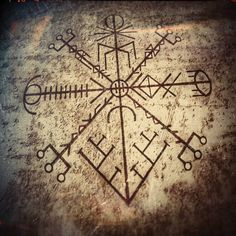 Rune Tattoo, Norse Tattoo, Viking Tattoos, Compass Tattoo, Rune Symbols, Magic Symbols, Viking Symbols, Norse Runes, Viking Runes