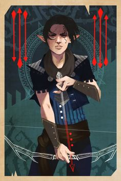 Dragon Age: Inquisitor Tarot Card - Created by Janice Singley