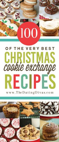 Christmas Cookies Recipes for an Exchange Party- 100 tested, tried, and true recipes! The best of the best.Best Christmas Cookies Recipes for an Exchange Party- 100 tested, tried, and true recipes! The best of the best. Christmas Cookie Exchange, Best Christmas Cookies, Noel Christmas, Holiday Cookies, Holiday Baking, Christmas Desserts, Christmas Treats, Cookie Exchange Party, Christmas Goodies
