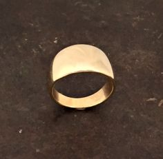 Solid Gold Ring. Yellow gold wedding band ring. 14 by shmukies