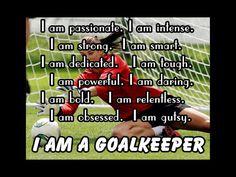 Soccer Poster I Am A GoalKeeper Player Photo by ArleyArtEmporium