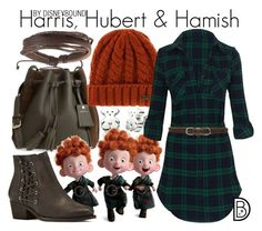 """Harris, Hubert & Hamish"" by leslieakay ❤ liked on Polyvore featuring Longchamp, Roxy, TOUS, Walking Cradles, Linea Pelle, Zodaca, disney, disneybound and disneycharacter"