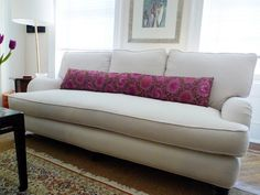 Love The Bench Cushion And Single Long Bolster Pillow Sofa Couch