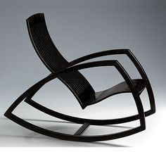 The minimalist Gaivota Rocking chair is the emblematic creation of Renaud Bonzon, and probably the most celebrated piece of furniture in Brazil. Metal Furniture, Home Decor Furniture, Unique Furniture, Furniture Projects, Furniture Making, Furniture Design, Chair Design, Cantilever Chair, Love Chair