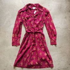 """Deadstock 1960's Indian cotton gathered waist dress, size S/M measures 28"""" at waist, $175+$12 domestic shipping. Call 415-796-2398 to purchase or PayPal afterlifeboutique@gmail and reference item in post."""