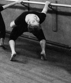 James Dean and Eartha Kitt learning ballet in 1955, photographed by Dennis Stock.  1955