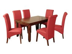 Roscrea 5ft Dining Set Red