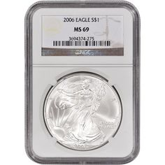 2006 American Silver Eagle 1 MS69 NGC -- See this great product. Note: It's an affiliate link to Amazon