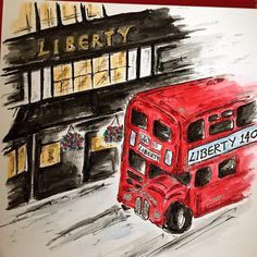 """Card for a London trip..Liberty's store a must on the list."