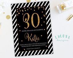 30. Geburtstag Einladung 21. von LaLunaDesigns auf Etsy