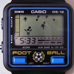 Retro Watches, Vintage Watches, Watches For Men, New Retro Wave, 80s Design, Vintage Video Games, Home Computer, Watch Football, Game & Watch