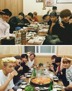 #StanMonstaX #Support BAP — army-baby-gzb:   a family that eats together stays...