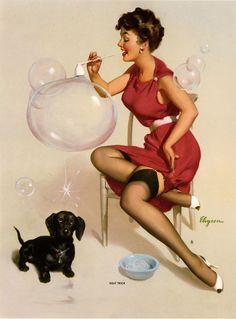Gil Elvgren -'Neat Trick' - 1958