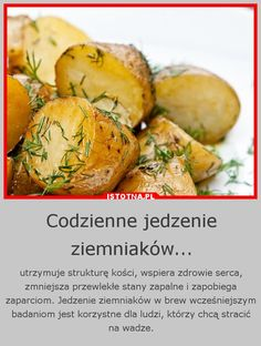 ... ziemniaki ... Slow Food, Fun Facts, Vegan Recipes, Food Porn, Veggies, Health Fitness, Food And Drink, Healthy Eating, Baking