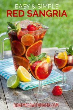 Easy Red Sangria Recipe with Essential Oils - DontMesswithMama.com