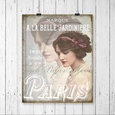 Vintage Lily Elsie French Typography Digital by FrenchPaperMoon