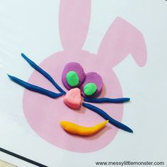 Free printable Easter playdough mats for kids. Toddlers and preschoolers will love this Spring play dough activity. Playdough mat designs include decorate an Easter egg, give a bunny or lamb a face, fill an Easter basket and make some baby chicks. Playdough Cake, Playdough Activities, Easter Activities, Bunny Crafts, Easter Crafts, Easter Play, Art For Kids, Crafts For Kids, Spring Lambs