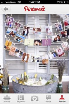 Display and Hang advice, recipes, pictures, favorite memories, put in a decorated box as a keepsake at the end