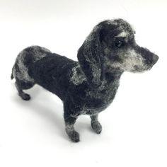 Nadel gefilzte Miniature Dachshund Haustier von FacciDesigns