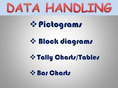 Pictograms, Block diagrams, Bar Charts, Tally Charts/Tables - Presentations/Activities/Lesson Plans