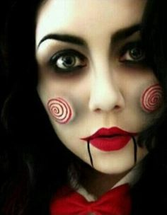 33 Totally Creepy Makeup Looks To Try This Halloween: #28. Jigsaw.