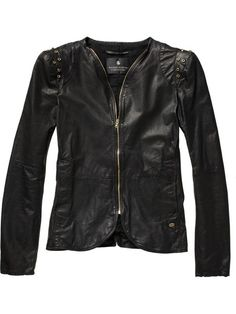 Maison Scotch leather jacket with padded shoulders Hello Beautiful, Ladies Dress Design, Online Shopping Clothes, Pretty Dresses, Blazer Jacket, Autumn Fashion, My Style, Womens Fashion, How To Wear