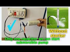 Submersible Starter Connection Single Phase Submersible Starter Capacitor Connection Youtube Submersible Pump Submersible Starter