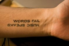 Straight And Simple Tattoo but I love words and I dig the ya tats