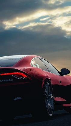 Fisker Karma Car Sunset Night Sky Red #iPhone #5s #wallpaper