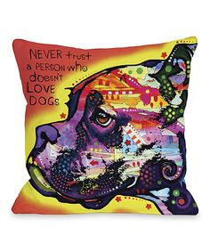 Love this Profile Boxer Pillow by OneBellaCasa on #zulily! #zulilyfinds
