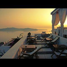 view from the restaurant!!!!!!! Pantheon Villas Santorini - www.pantheon-villas.gr