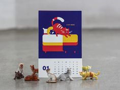 Kitty Calendar by James Graves