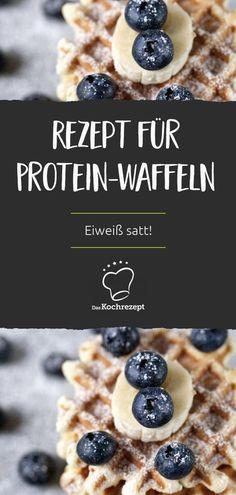 Auch Sportler wollen naschen: Dieses Rezept für Protein-Waffeln ist genau richtig, wenn du auch beim Nachtisch möglichst viel Eiweiß zu dir nehmen möchtest. Und Quark-Waffeln sind ja immer gut...#diät #kalorienarm #daskochrezept #protein #eiweiß #quark #waffel #sportler
