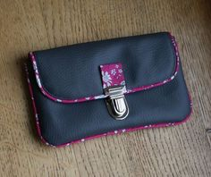 pochette tuto simili gris - 3 links at the end of the message