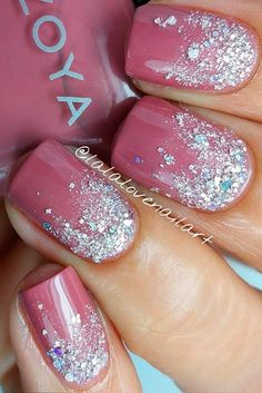 Nail art is a very popular trend these days and every woman you meet seems to have beautiful nails. It used to be that women would just go get a manicure or pedicure to get their nails trimmed and shaped with just a few coats of plain nail polish. Nail Design Glitter, Pink Nail Designs, Cool Nail Designs, Glitter Nails, Nails Design, Pink Glitter, Pink Sparkle Nails, Magenta Nails, Nails Turquoise