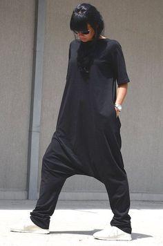 Losse Jumpsuit zwart jumpsuits vrouwen harem jumpsuit