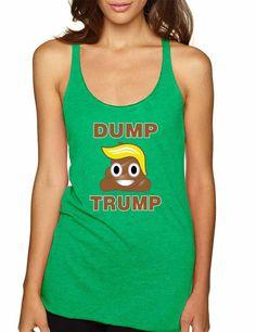 Dump Trump 2016 elections emoji Women Triblend Tanktop