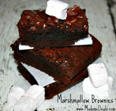 Marshmallow Brownies #Recipes