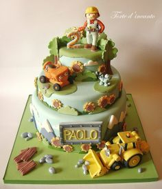 Bob the builder Cake - by Tortedincanto @ CakesDecor.com - cake decorating website