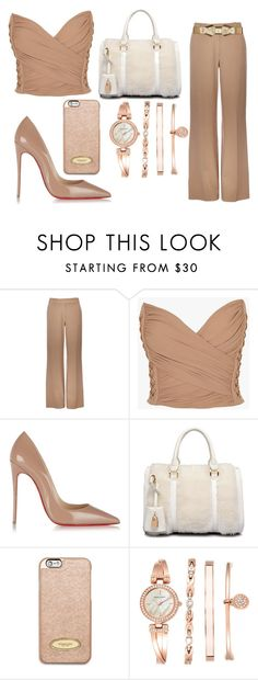 """Naturally"" by aroushakhan ❤ liked on Polyvore featuring Wallis, Balmain, Christian Louboutin, MICHAEL Michael Kors, Anne Klein and Marni"