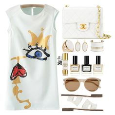 """""""Shein"""" by simona-altobelli ❤ liked on Polyvore featuring Chanel, Kendra Scott, Kenneth Jay Lane, Lucky Brand, Chantecaille, Balmain, Yves Saint Laurent, Sheinside and shein"""